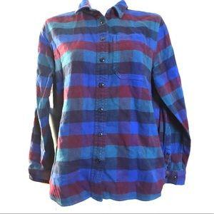 LL Bean Flannel Shirt, XS